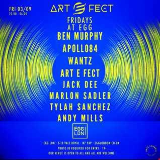 Marlon Sadler @ ArtEFect - Egg London Friday 3rd Sept 2021