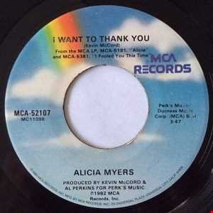 ALICIA MEYERS -  I WANT TO THANK YOU ( Ronnie De Michelis Re Edit Groove)