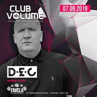 Club Volume - DEC (Recorded live @ Favela 07-09-2019)