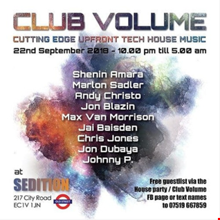 Club Volume London - Mixed by  Andy Christo