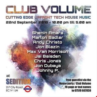 Club Volume London - Mixed by Marlon Sadler