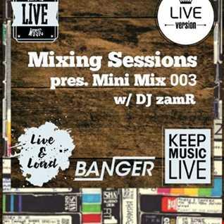DJ zamR   Mixing Sessions pres. Mini Mix 003