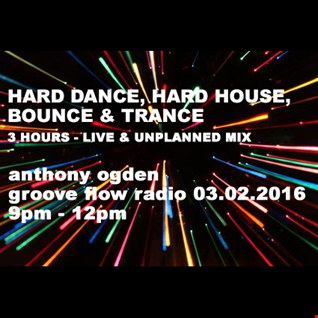 3 HOURS of Hard Dance, Hard House and Trance - Live on Groove Flow Radio 03.02.2016