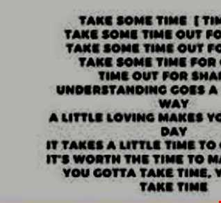 Take Some Time Out