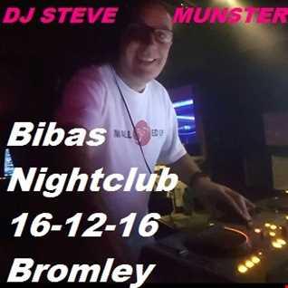 DJ Steve Munster Bibas Nightclub Warm up mix 16th December 2016 (1 Hour Mix)