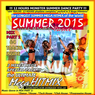 **DANCEFLOOR BURNER VOL 38** the >3 in 1< WORLD GREATEST Hotest and Ultimative SUMMER-DANCE-MEGA-HITMIX 2015*