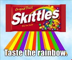 SKITTLES, A RAINBOW OF MUSIC! FT JON INTERFACE!