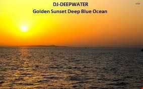 Golden Sunset Deep Blue Ocean