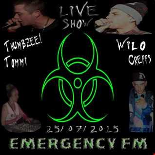 MsDjTommi B2B Dj Crepps Mc Thumbzee & Mc Wilo LIVE Emergency FM  250715