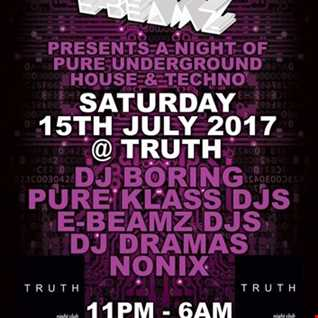 PURE KLASS DJs & DJ DRAMAS TUFF HOUSE/TECHNO-PURE KLASS & E-BEAMZ @TRUTH IN BOURNEMOUTH JULY 15TH
