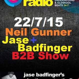 JBC Sessions Show with Neil Gunner, Rejuve Radio 22/7/15