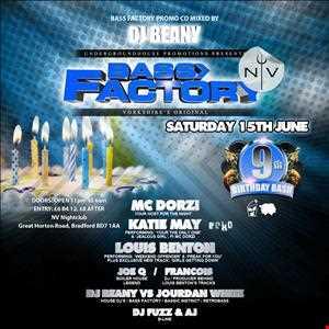 DJ BEANY BASS FACTORY 9th BIRTHDAY PROMO CD