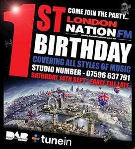 DAPPER DAPPER URBAN BIRTHDAY BASH FIRE LONDON NATION FM 14TH SEPTEMBER 2013
