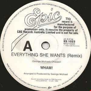 Wham! Everything She Wants (12 Inch Dance Remix)