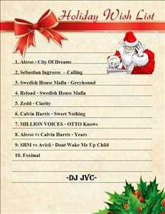 Holiday Wishlist Mixtape 2 to Willen from DJ JVC