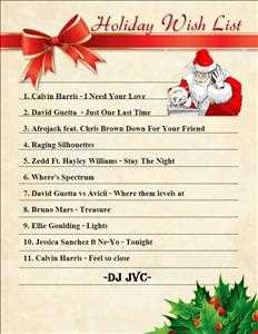 Holiday Wishlist Mixtape 1 to Willen from DJ JVC