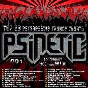 DJ Psinetic's PSYGRESSIVE TRANCE TOP 20 Mix 001 (2012 09 07)