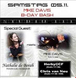 Herby@CF, Natalie de Borah & Chris van Neu Live @Mike Davis B Day Bash (Studio 111 SB 05.11.2011)