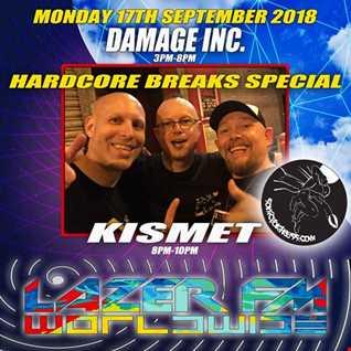 Damage Inc. Hardcore Breaks Special,September 2018   Lazer FM   (Epic 5 Hour Show)
