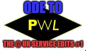 DJ DropOut pres:Ode To PWL:The @ UR Service Edits #1