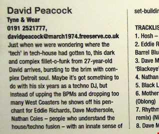 IDJ Magazine Readers Mixes Jan 2001 Runner Up DJ Mix