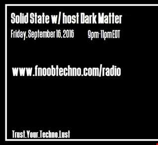 Solid State 13  Dark Matter  16 September 2016