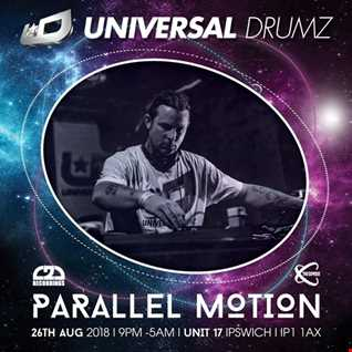 Parallel Motion live at Universal Drumz Aug 18