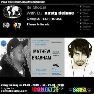 Global Session - Nasty deluxe, Mathew Brabham - Confetti Digital - UK / London