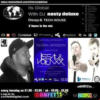 Global Session - Nasty deluxe, Lissat and Voltaxx - Confetti Digital UK / London