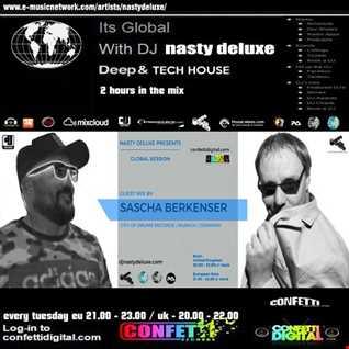 Global Session - Dj Nasty deluxe - Sascha Berkenser / Confetti Digital UK - London