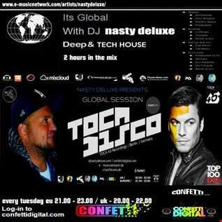 Global Session - Dj Nasty deluxe, Tocadisco / Confetti Digital UK - London
