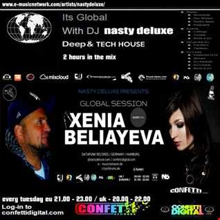 Global Session - Dj Nasty deluxe, Xenia Beliayeva - Confetti Digital UK / London