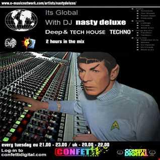 """It's Global"" - Confettidigital - UK / London - Mixed by Nasty deluxe"