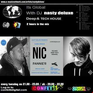 Global Session - Nasty deluxe , Nic Pannier - Confetti Digital UK / London
