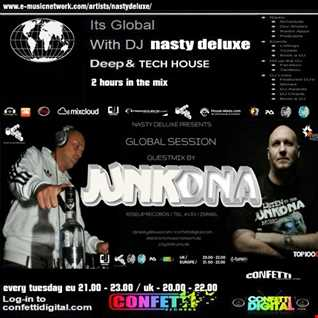 Global Sesseion - Dj Nasty deluxe, Junkdna - Confetti Digital UK / London