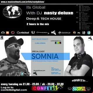 Global Session - Nasty deluxe / Somnia ( City of Drums ) - Confetti Digital UK / London