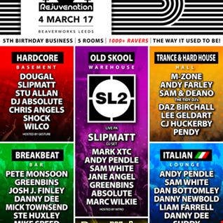 Rejuve Breakbeat Bar 5th Birthday Mar 2017 Beaverworks Leeds UK