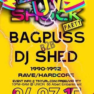 DJ Bagpuss B2B DJ Shed @ Free UV Shock Party