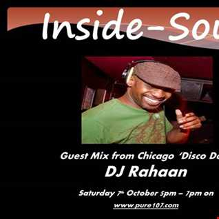 Inside Soul with Glenn Burgess & Simon Carter feat. DJ Rahaan exclusive to Pure 107 Saturday 07.10.2017