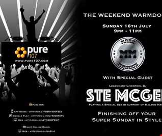 The Weekend Warm Down with DJ Mark Maddox feat. Ste McGee live on Pure 107 Sunday 16th July 2017