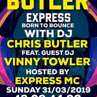 Chris Butler & Express MC The Butler Express (Born To Bounce) feat Vinny Towler live on Pure 107 31.03.2019