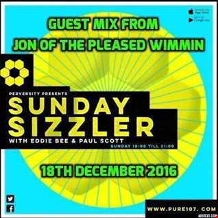 Eddie Bee - Sunday Sizzler Featuring Guest Mix From Jon Pleased Wimmin Live On Pure 107 18.12.2016