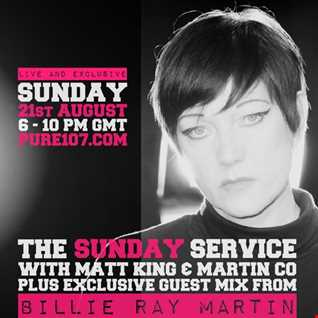 Billie Ray Martin EXCLUSIVE Guest Mix For The Sunday Service On Pure 107 21/08/2016