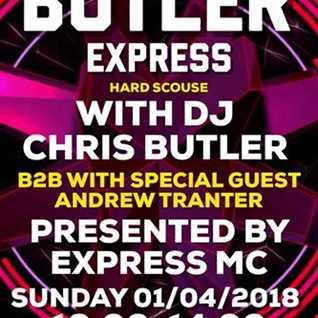 DJ Chris Butler, Express MC - The Butler Express -special guest Andy Tranter