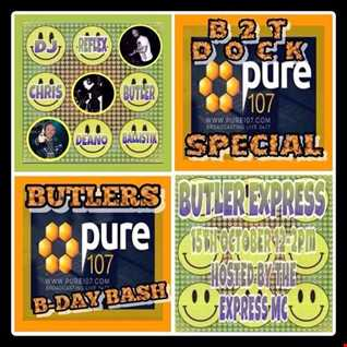 Chris Butler & Express MC - The Butler Express (Hardcore Special) live on Pure 107 15.10.2017