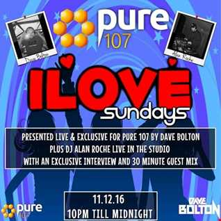 Dave Boulton - iLove Sunday's Featuring Interview, & Live Guest Mix From Alan Roche 11.12.2016
