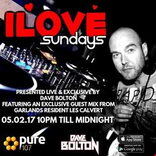 Dave Boulton - iLove Sundays Featuring Guest Mix From Les Calvert Live On Pure 107 05.02.2017