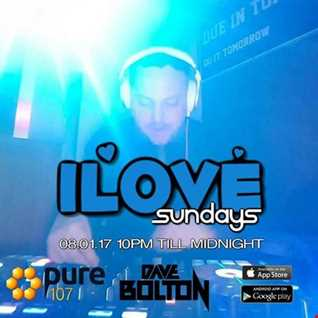Dave Boulton - iLove Sunday's Live On Pure 107 08.01.2017