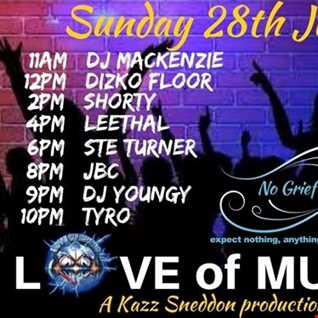 love of music tribute to Kazz Sneddon (July Event)