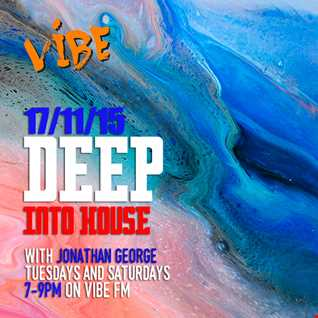 Deep into House with Jonathan George 17th November 2015